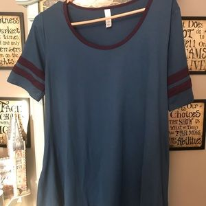 Blue Legging Material LulaRoe Perfect Tee
